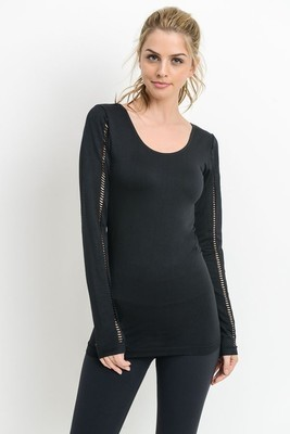 Laser Cut Back And Sleeve Detail Muscle Top
