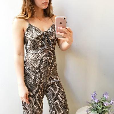 Beatrix Snake Print Jumpsuit
