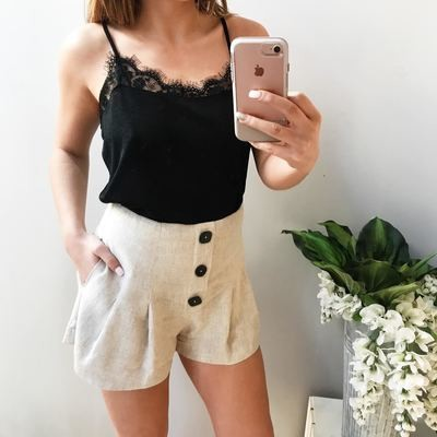 Remy Buttoned Pleat Shorts