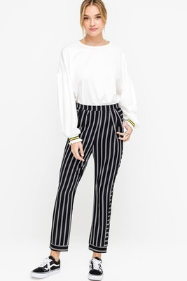 Linda Tapered Striped Pants
