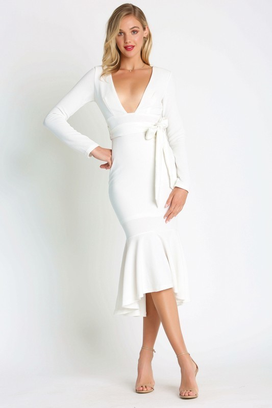 Valeria Long Sleeve Bodycon Maxi Dress