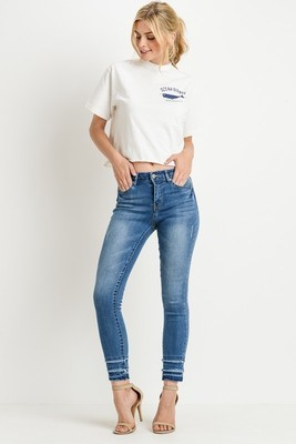 Piper Mid-Rise Layered Skinny Jean