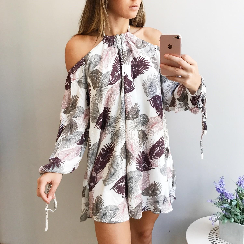 Lilly Leaf Dress Mini