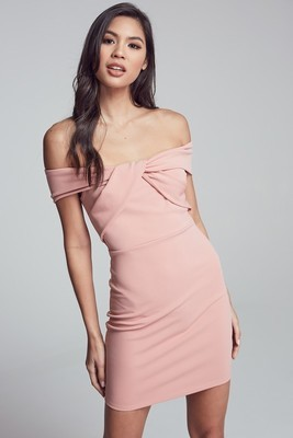 Jackie Front Twist Off Shoulder Dress