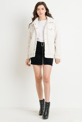 Tina Faux Fur Trucker Jacket
