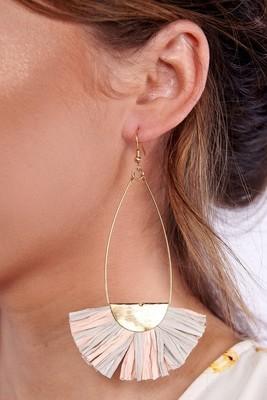 Helen Teardrop Ruffle Earrings