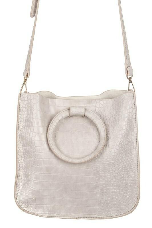 Faux Alligator Skin Side Bag