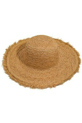 Fringe Brim Braided Straw Hat