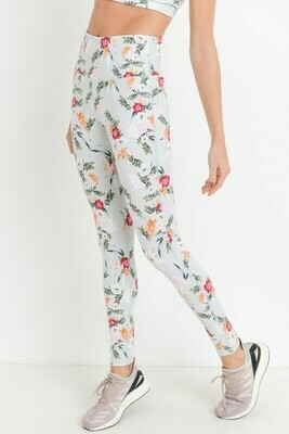 Highwaist Ikebana Floral Print Leggings