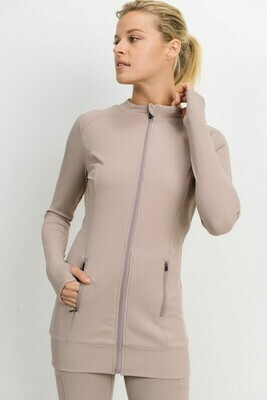 Longline All-Over Ribbed Active Jacket