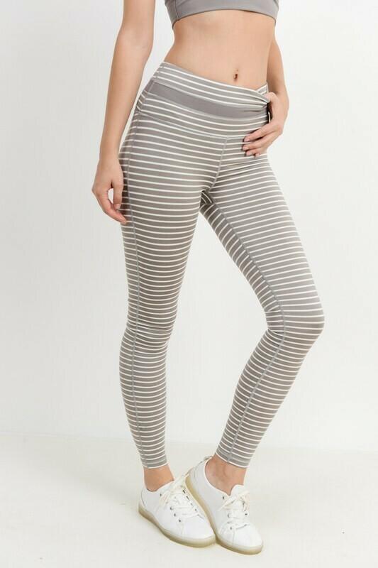 Highwaist All-Over Stripe Leggings