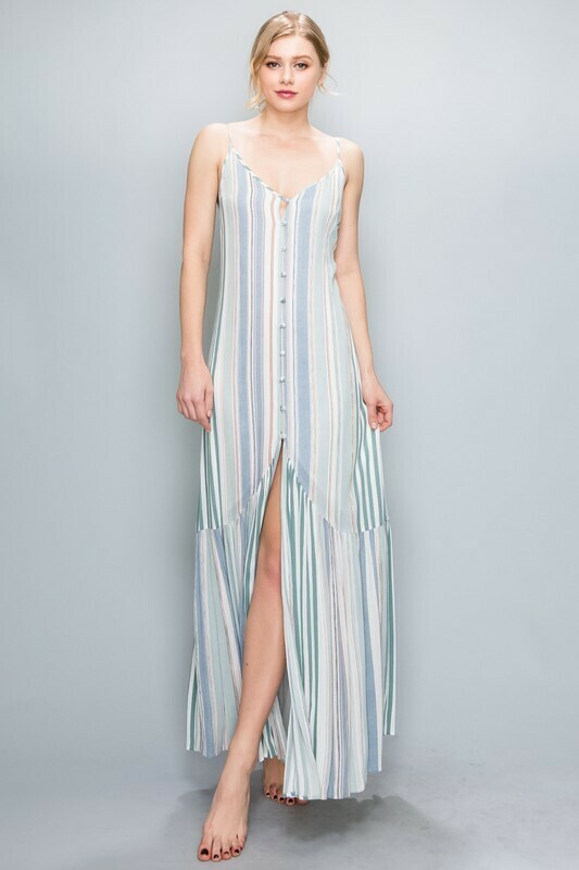 Nina Center Button Down Maxi Dress
