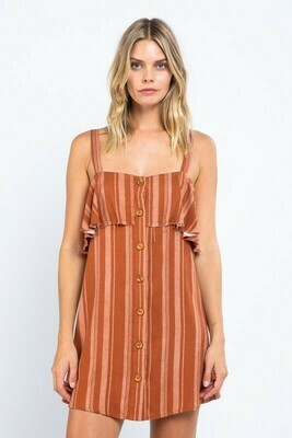 Poppy Button Down Tube Mini Dress