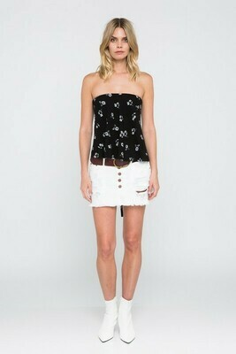 Sienna Floral Lace Up Back Top