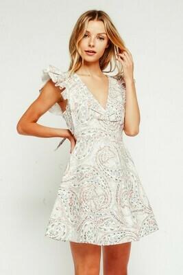 Paisley Ruffle Dress