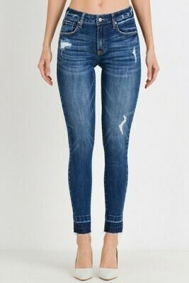 Raw Hem Ankle Skinny Jeans