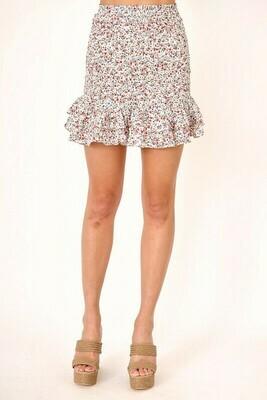 Floral Smocked Set Skirt