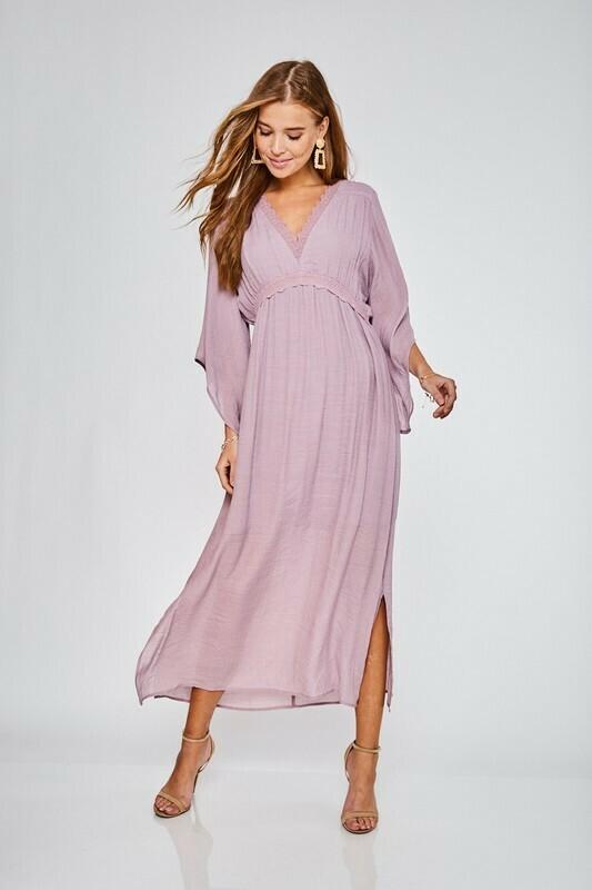 Lace Trim Lined Dress