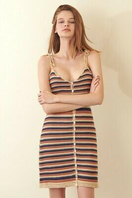 Multi Color Striped Knit Dress