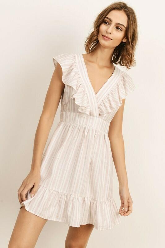 Sailor Striped V-Neck Dress