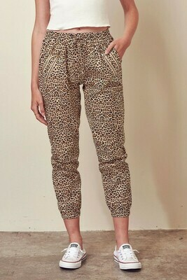 Leopard Cropped Joggers
