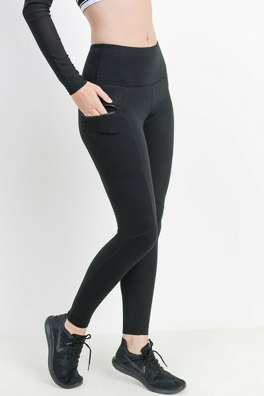 Highwaist Essential Leggings Zippered Side Pockets