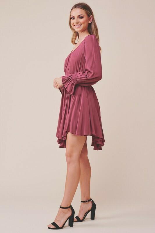 Long Sleeve Peasant Dress