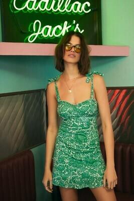 Green Palm Sweetheart Dress