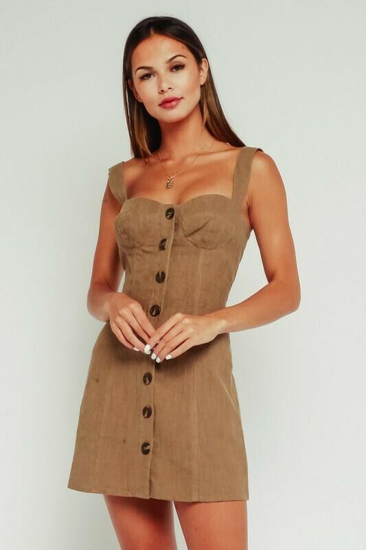 Button Up Sweetheart Dress