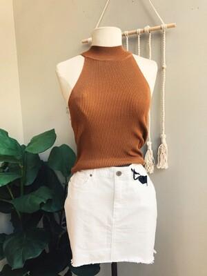 Halter Sweater Crop Top