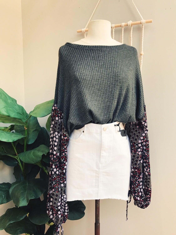 Lillian Sleeve Print Knit Top