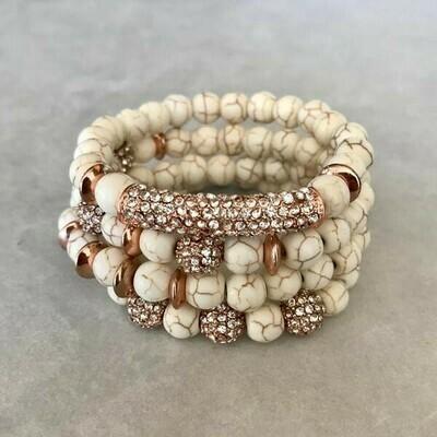 Stacked Amazonite Bracelets