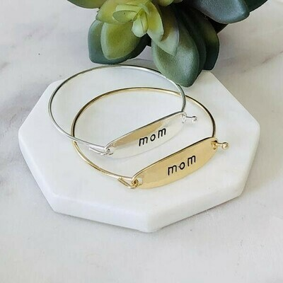 Mom Bangle Bracelet