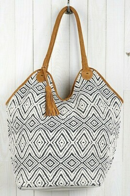 Diamond Pattern Tote