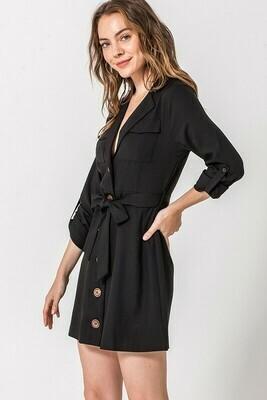 Button Down Pocket Dress