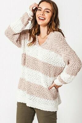Wide Stripe Pullover Sweater