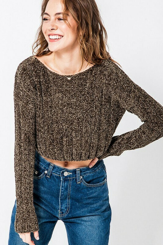 Cropped Boxy Sweater