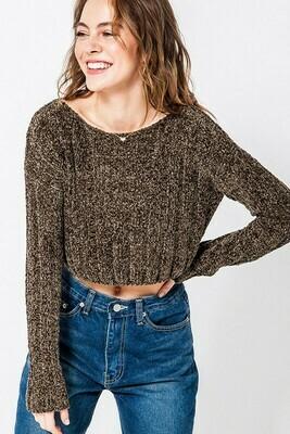 Cropped Boxy Sweater