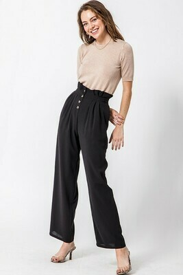 Button Up Paperbag Pants