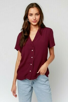 Collared Button Up Tee