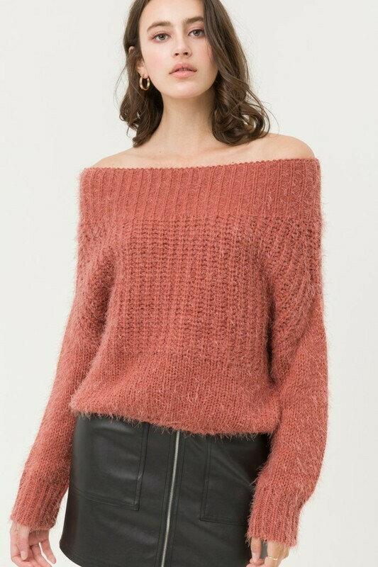 Super Soft Off Shoulder Sweater Top