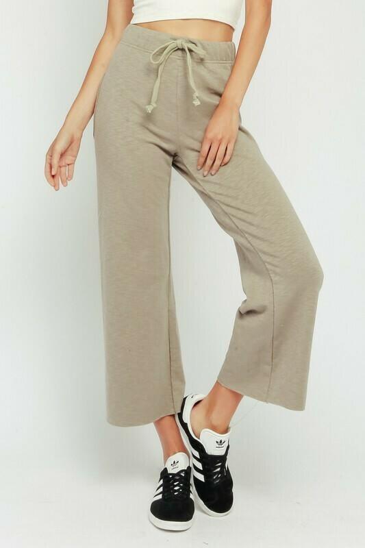 Drawstring Cropped Lounge Pants