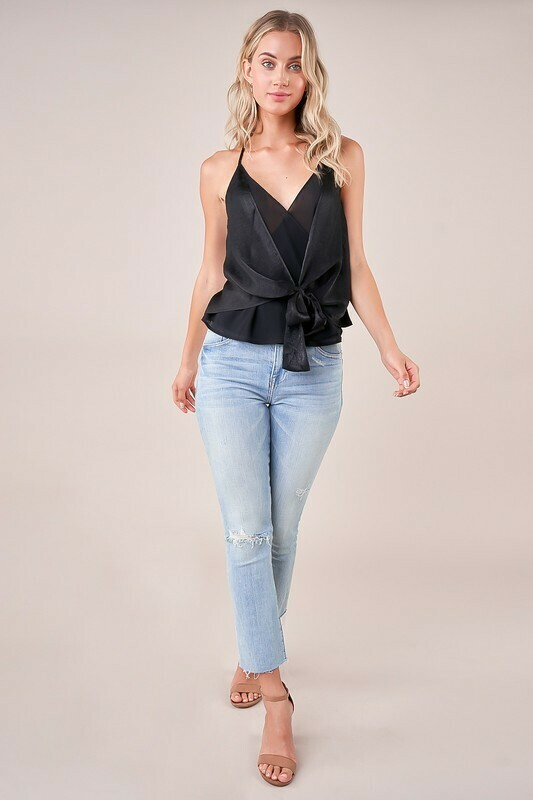 Take Note Tie Front Cami