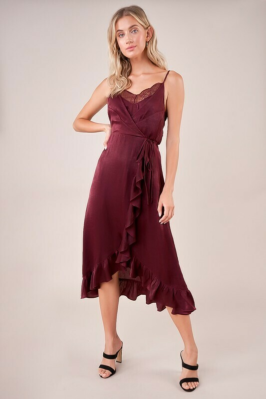 Need Your Heart Wrap Slip Dress