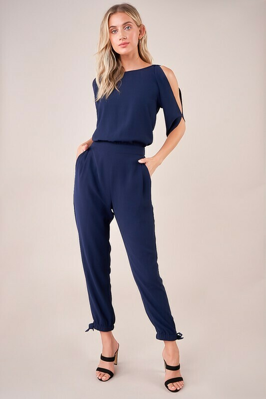 Larinda Cold Shoulder Jumpsuit