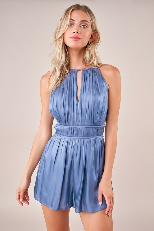 Anyway You Want It Surplice Halter Romper
