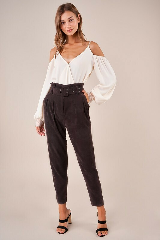 Mickie High Waisted Corduroy Pants