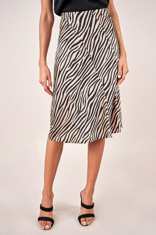 Jetta Tiger Print Midi Skirt