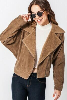 Corduroy Side Zip Jacket