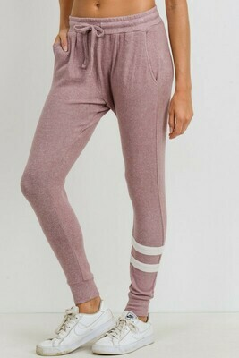 Asymmetrical Double Striped Essential Joggers